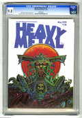Magazines:Science-Fiction, Heavy Metal V2#1 (HM Communications, 1978) CGC NM/MT 9.8 White pages. Druillet cover. Druillet, Moebius, Morrow, and Nino ar...