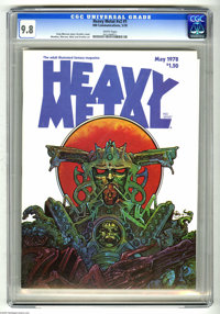 Heavy Metal V2#1 (HM Communications, 1978) CGC NM/MT 9.8 White pages. Druillet cover. Druillet, Moebius, Morrow, and Nin...