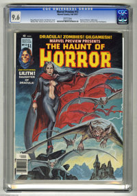 Marvel Preview #12 (Marvel, 1977) CGC NM+ 9.6 White pages. Featuring the Haunt of Horror. Lilith story. Earl Norem cover...