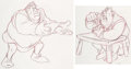 Animation Art:Concept Art, Shrek Early Character Development Drawings Group of 2(DreamWorks, 2001).... (Total: 2 Items)