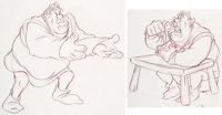 Shrek Early Character Development Drawings Group of 2 (DreamWorks, 2001).... (Total: 2 Items)