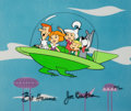 "Animation Art:Limited Edition Cel, The Jetsons ""Spacemobile"" Limited Edition Cel #120/300 Signed by Bill Hanna and Joe Barbera (Hanna-Barbera, 1989)...."