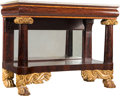 Furniture : Continental, An American Empire Partial Gilt Mahogany Pier Table with Marble Top, circa 1820. 34 x 43-1/2 x 21-3/8 inches (86.4 x 110.5 x... (Total: 2 Items)