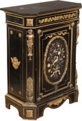 Furniture , A Napoleon III Ebonized Wood, Gilt Bronze, and Hardstone-Mounted Cabinet, circa 1870. 43-1/2 x 33 x 17-1/2 inches (110.5 x 8... (Total: 2 Items)
