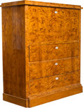 Decorative Arts, Continental:Other , A Biedermeier Sycamore Secretaire, mid-19th century . 51-1/4 x44-7/8 x 19-5/8 inches (130.2 x 114.0 x 49.8 cm). PROPERTY ...
