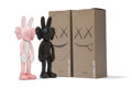 Fine Art - Sculpture, American:Contemporary (1950 to present), KAWS (b. 1974). Accomplice, set of two , 2002. Painted castvinyl. 9-1/2 x 3-1/2 x 2 inches (24.1 x 8.9 x 5.1 cm) (toy, ...(Total: 2 Items)
