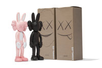 KAWS (b. 1974) Accomplice, set of two , 2002 Painted cast vinyl 9-1/2 x 3-1/2 x 2 inches (24.1 x