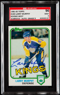 Autographs:Sports Cards, Signed 1981-82 Topps Larry Murphy #100 SGC 96 Mint 9. ...