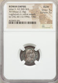 Ancients:Roman Imperial, Ancients: Julian II, as Augustus (AD 360-363). AR siliqua (16mm,2.18 gm, 6h). NGC AU ★ 5/5 - 5/5....
