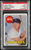 Baseball Cards:Singles (1960-1969), 1969 Topps Mickey Mantle (White Letters) #500 PSA EX-MT 6 (OC)....