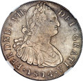 Colombia, Colombia: Ferdinand VII 8 Reales 1814/3 P-JF XF Details (ImproperlyCleaned) NGC,...