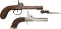 Handguns:Muzzle loading, Lot of Two Percussion Boot Pistols.... (Total: 2 Items)