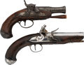 Handguns:Muzzle loading, Lot of Two Pocket Pistols.... (Total: 2 Items)