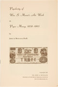 Books, Muscalus, John A. Obsolete Currency Monographs, Etc. Bridgeport etc., c. 1938-1978. A nearly complete set of these monog...
