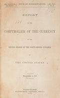 Books, United States Government. Report of the Comptroller of theCurrency.. Washington. Reports for 1871, 1873, 1875, 1898(in...