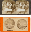 Books, [Stereoscopes]. Stereoscopic Images Depicting the U.S. Mint or theBureau of Engraving and Printing. Approximately 55 cards,...