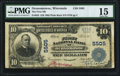 National Bank Notes:Wisconsin, Oconomowoc, WI - $10 1902 Plain Back Fr. 633 The First NB Ch. # 5505 PMG Choice Fine 15.. ...