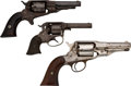 Handguns:Single Action Revolver, Lot of Three Remington Pocket Revolvers.... (Total: 3 Items)