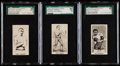 """Boxing Cards:General, 1938 Cartledge Razor """"Famous Prize Fighters"""" SGC Graded Trio(3)...."""