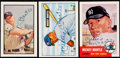 Autographs:Sports Cards, Mickey Mantle Signed Baseball Cards Lot of 3. ...