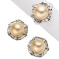 Estate Jewelry:Suites, South Sea Cultured Pearl, Diamond, White Gold Jewelry . ... (Total:2 Items)