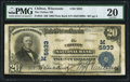 National Bank Notes:Wisconsin, Chilton, WI - $20 1902 Plain Back Fr. 659 The Chilton NB Ch. # (M)5933 PMG Very Fine 20.. ...