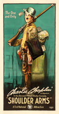 """Movie Posters:Comedy, Shoulder Arms (First National, 1918). Three Sheet (41"""" X 78"""").. ..."""