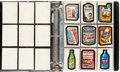 Memorabilia:Trading Cards, Wacky Packs Complete Series 1-13 Group Binder (Topps, 1973-75)....