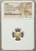 Ancients:Greek, Ancients: LYDIAN KINGDOM. Alyattes or Walwet (ca. 610-546 BC). EL third stater or trite (12mm, 4.72 gm). NGC Choice XF 5/5 - 4/5, counte...