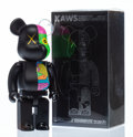Prints & Multiples, KAWS X BE@RBRICK. Dissected Companion 400% (Black), 2010. Painted cast vinyl. 10-3/4 x 5 x 3-1/2 inches (27.3 x 12.7 x 8...