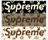 Supreme Playboy Stickers, set of three, c. 2009 Offset lithographs on adhesive stickers 2-1/4 x