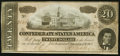 Confederate Notes:1864 Issues, T67 $20 1864 PF-26 Cr. 526 About Uncirculated.. ...