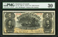 Canadian Currency, DC-13a $1 31.3.1898 PMG Very Fine 30.. ...