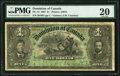 Canadian Currency, DC-12 $1 2.7.1897 PMG Very Fine 20.. ...