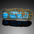 Lapidary Art:Lamps, Blue Calcite Light Panel. Andes Mountains. Argentina.South America. ...