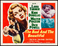 """Movie Posters:Drama, The Bad and the Beautiful (MGM, 1953). Folded, Very Fine. HalfSheet (22"""" X 28"""") Style A. Drama.. ..."""