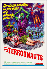 """The Terrornauts (Embassy, 1967). One Sheet (27"""" X 41""""). Science Fiction"""