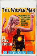 "Movie Posters:Horror, The Wicker Man (Excelsior, 1973). Rolled, Fine/Very Fine. Belgian(14"" X 21.25""). Horror.. ..."