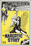 "Movie Posters:Exploitation, The Narcotic Story (Jolf, 1958). One Sheet (27"" X 41""). Exploitation.. ..."