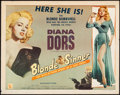 """Movie Posters:Bad Girl, Blonde Sinner (Allied Artists, 1956). Half Sheet (22"""" X 28"""") Style A. Bad Girl.. ..."""