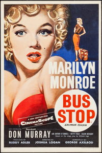 "Bus Stop (20th Century Fox, 1956). British Double Crown (20"" X 30"") Tom Chantrell Artwork. Drama"