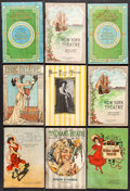 """Movie Posters:Miscellaneous, Theater Program Lot (1900s). Theater Programs (9) (Multiple Pages,6"""" X 9""""). Miscellaneous.. ... (Total: 9 Items)"""