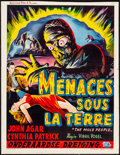 """Movie Posters:Science Fiction, The Mole People (Universal International, 1956). Trimmed Belgian (14"""" X 18""""). Science Fiction.. ..."""
