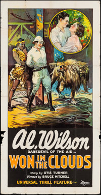 """Won in the Clouds (Universal, 1928). Three Sheet (40"""" X 79""""). Adventure"""