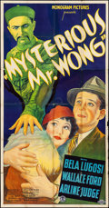 """Movie Posters:Horror, The Mysterious Mr. Wong (Monogram, 1934). Three Sheet (41"""" X 79""""). Horror.. ..."""