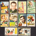 "Movie Posters:Drama, All This, and Heaven Too & Others Lot (Warner Brothers, 1946).Spanish Heralds (9) (Approx. 3.5"" X 5.5"", 3.75"" x 5.5"", 3.75""...(Total: 10 Items)"