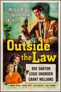 "Movie Posters:Crime, Outside the Law (Universal International, 1956). One Sheet (27"" X41""). Crime.. ..."