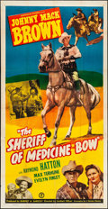 "Movie Posters:Western, The Sheriff of Medicine Bow (Monogram, 1948). Three Sheet (41"" X80""). Western.. ..."