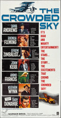 "Movie Posters:Drama, The Crowded Sky & Other Lot (Warner Brothers, 1960). ThreeSheets (2) (41"" X 79""). Drama.. ... (Total: 2 Items)"