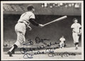 """Autographs:Post Cards, Mickey Mantle 535th Career Home Run """"Best Wishes"""" Signed Souvenir Card...."""
